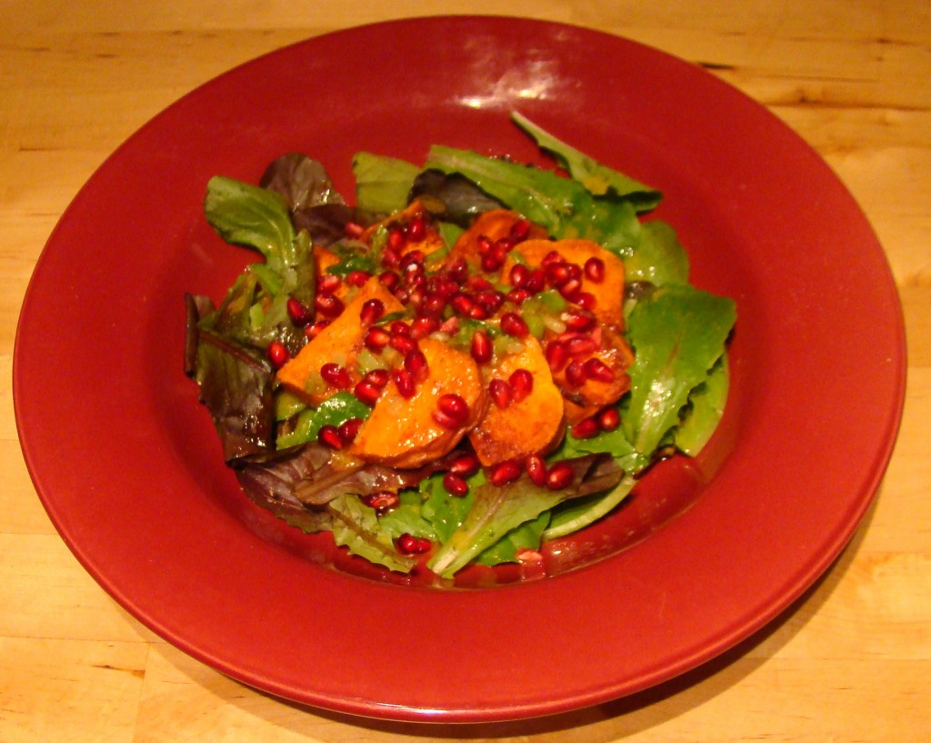HH Sweet Potato and Romaine Salad with Pomegranate