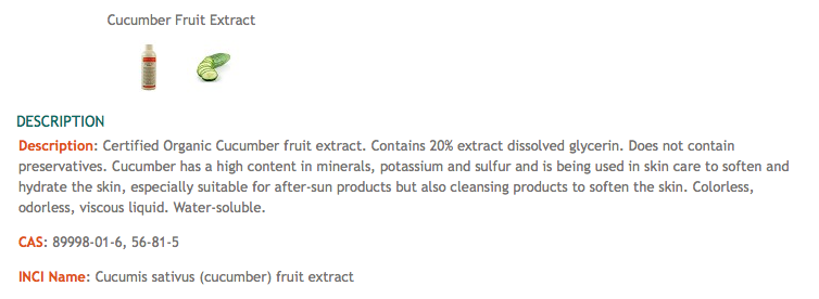 This organic extract contains no preservatives.