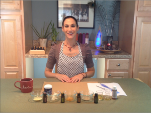 Here's a shot of me teaching a module from the Create Your Skincare online studio!