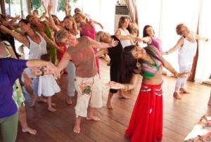 Zinnia guiding women in Sacred Feminine dance