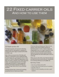 22 Fixed Carrier Oils and how to use them