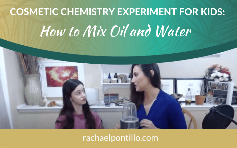 Cosmetic Chemistry Experiment for Kids Homeschooling with Rachael Pontillo, for ABC's Outside the Classroom