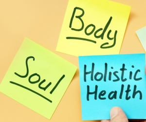 """Post-its that say """"soul,"""" """"body,"""" and """"holistic health."""""""