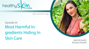 Being a guest on podcasts is a great content marketing strategy. Here I am on The Healthy Skin Show.
