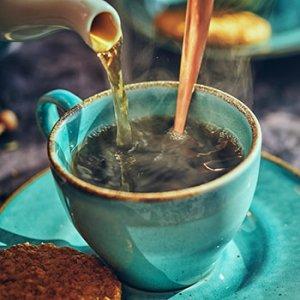 Teal Tea Cup