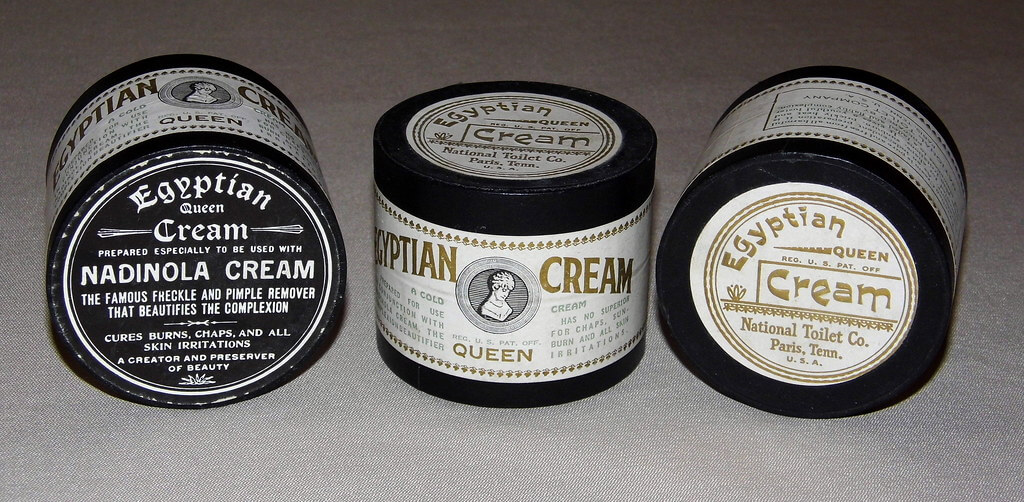 Jars of vintage Egyptian Queen Cold Cream