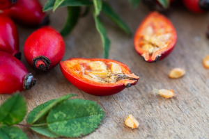 Rose hips are a great botanical source of Vitamin C for skincare