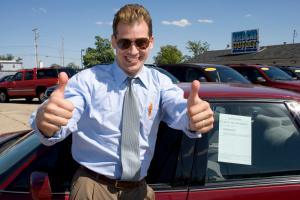 Sleazy car salesman